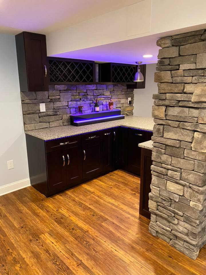 finished basement kitchen