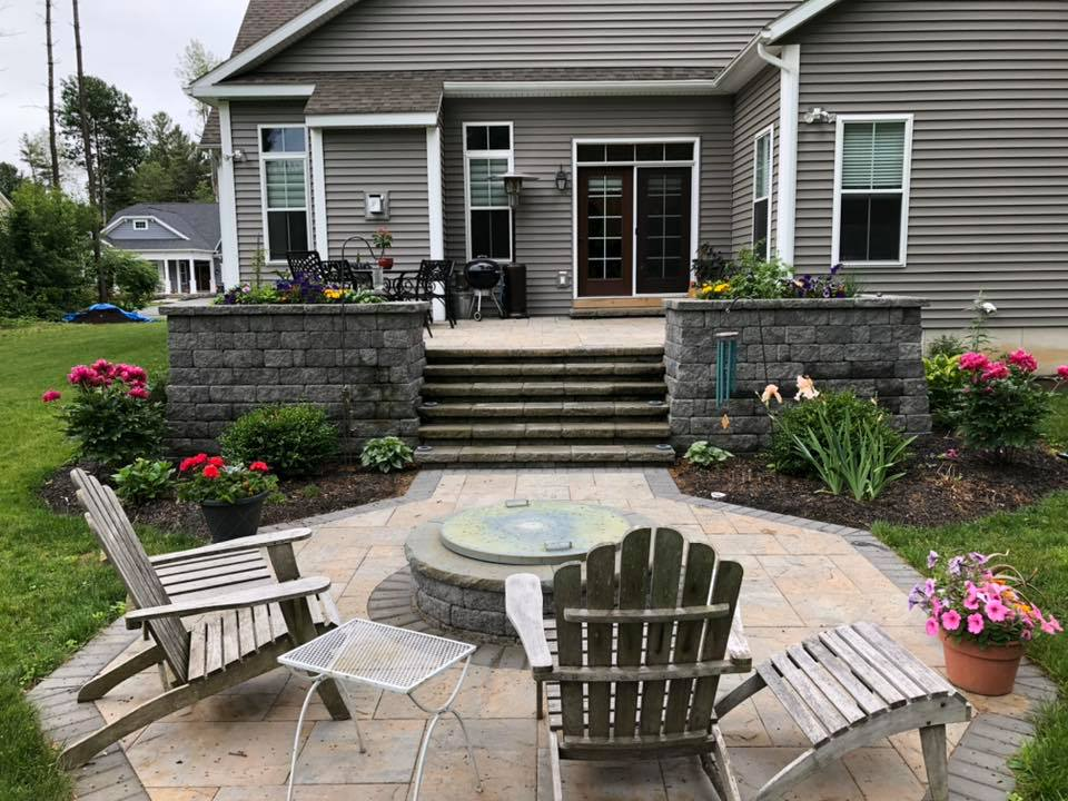 hardscape backyard design