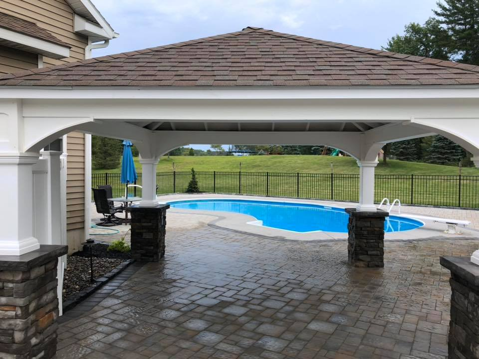 poolscape and enclosure